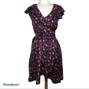 HI THERE by Karen Walker Floral Wrap Dress